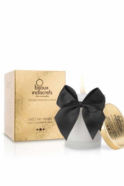 BIJOUX INDISCRETS® Melt My Heart, bougie de massage pafumée - chocolat noir