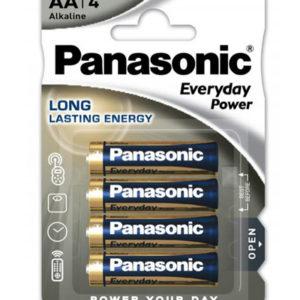 Panasonic® Pack de 4 Piles LR06 AA, 1.5V